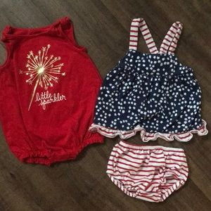 Cat & Jack 4th of July outfits
